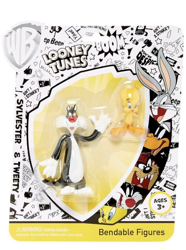 Warner Brothers Sylvester & Tweety Bendable Action Figure