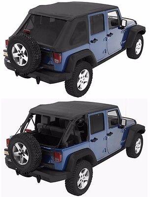 (Bestop Trektop NX Combo Sunrider Soft Top w/ Hardware 07-18 4dr Jeep Wrangler JK)
