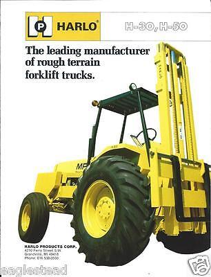Fork Lift Truck Brochure - Harlo - H-30 H-50 - Rough Terrain Lt245