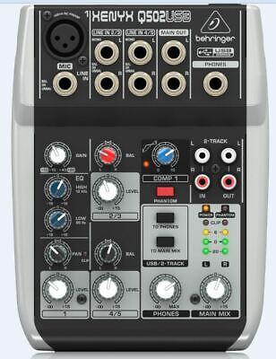 WHARFEDALE PRO Connect 802 USB Mischpult Mixer f Studio Recording Karaoke Live