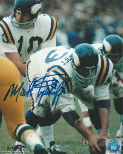 Minnesota Vikings Mick Tinglehoff    autographed 8x10 action  photo