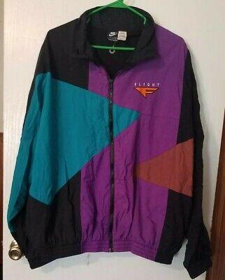 Men's Vintage 90's Nike Flight ,Foot Locker Color Block Windbreaker Jacket Sz XL