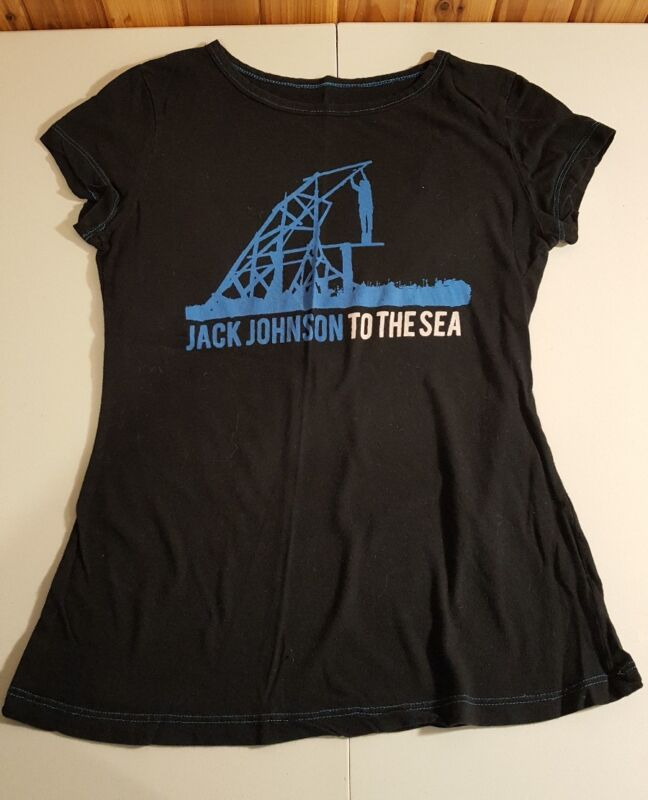 Jack Johnson Shirt To The Sea 2010 World Tour Womens small organic cotton