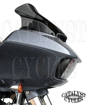 "Klock Werks 14"" Sport Flare Dark Smoke Windshield 2015-2017 Harley Road Glide"