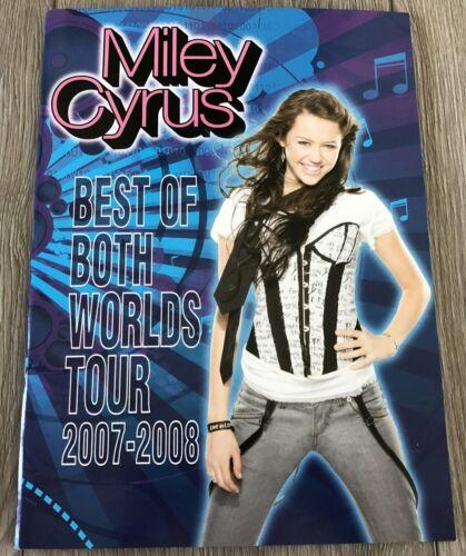 MILEY CYRUS 2007-2008 HANNAH MONTANA BEST OF BOTH WORLDS TOUR PROGRAM