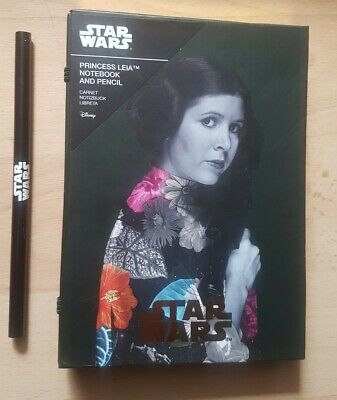 Disney Star Wars Princess Leia Notebook Journal Exercise Book Including Pencil.