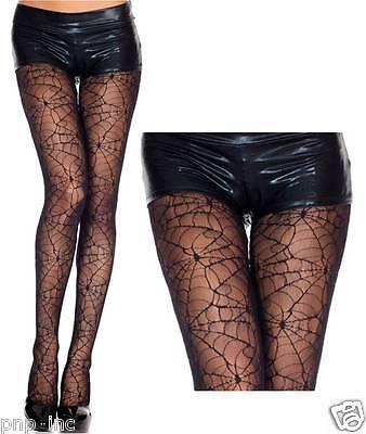 Women's Full Black Spiderweb Pantyhose Spider Web Lace Tights Halloween Costume](Spiderweb Tights)