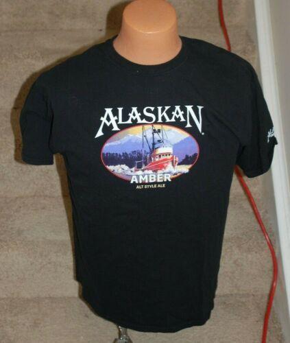 Alaskan Brewing Company Alaskan Amber Beer Large Tee Shirt