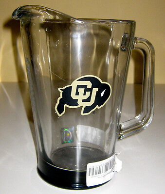 COLORADO BUFFALOES 60-Ounce GLASS ELITE NCAA BEER PITCHER NEW! UNUSED **READ AD 60 Ounce Glass Pitcher