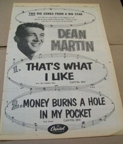 Dean Martin 1954 Ad- That