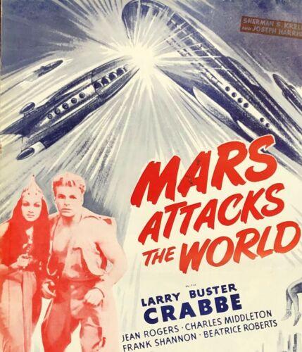 FLASH GORDON MARS ATTACKS THE WORLD 1950 MOVIE POSTER EXHIBITOR 8PG PRESSBOOK