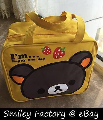 Rilakkuma San-X Drawstring Canvas Lunch Bento Bag HandBag 1pcs Free shipping