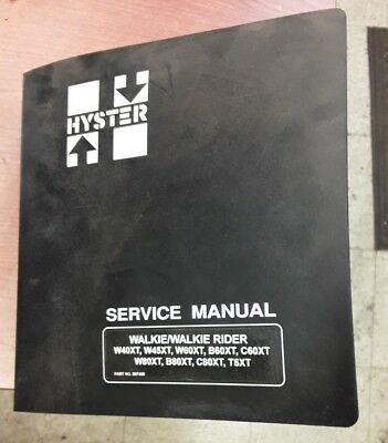 Hyster Forklift Parts Manual Walkiewalkie Rider Part No. 897465