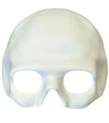 Paint Your Own Halloween Mask (Paint Your Own White Skull Half Mask Skeleton Adult Blank Decorate Pirate)