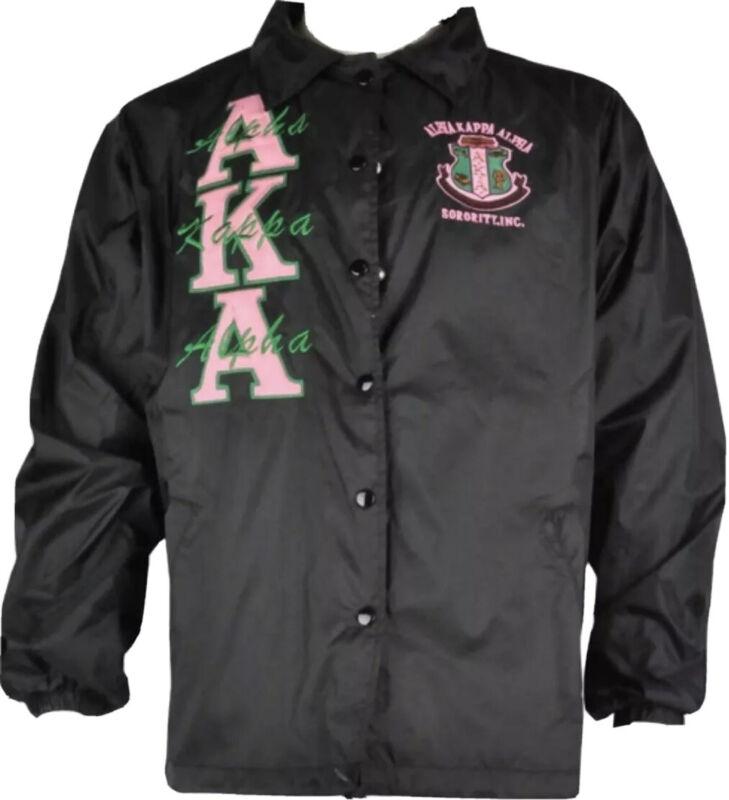 Alpha Kappa Alpha AKA Black Line Jacket Size L New!