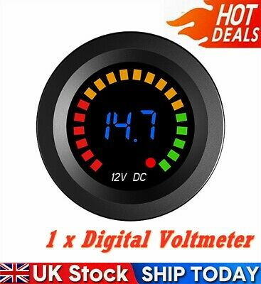 Waterproof-12V-LED Car Van Boat Marine Voltmeter Voltage Meter Battery Gauge UK
