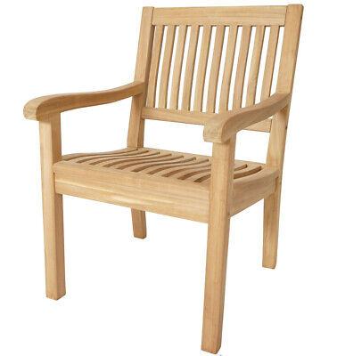 KMH® Teak Gartenstühle Gartenstuhl Gartensessel Stuhl Stühle Gartenmöbel Holz