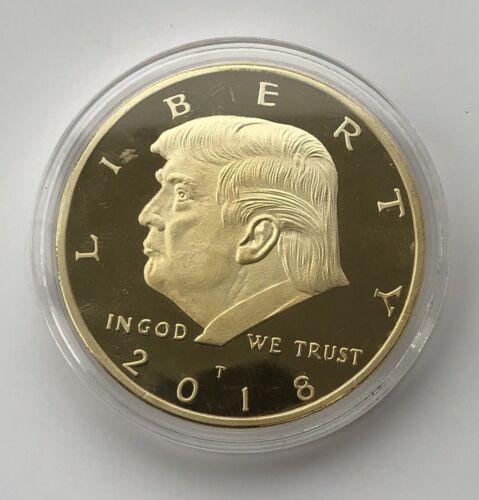 2018 Rare Donald Trump Republican US Gold Eagle Collection Gift Coin W/ Capsule