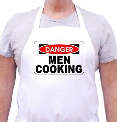 Funny Apron For Men Danger Men Cooking Aprons With Attitude by CoolAprons