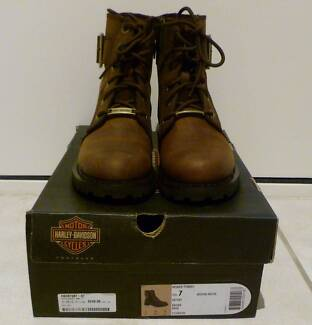 100% genuine Harley Davidson Women Leather Boots Size USA 7