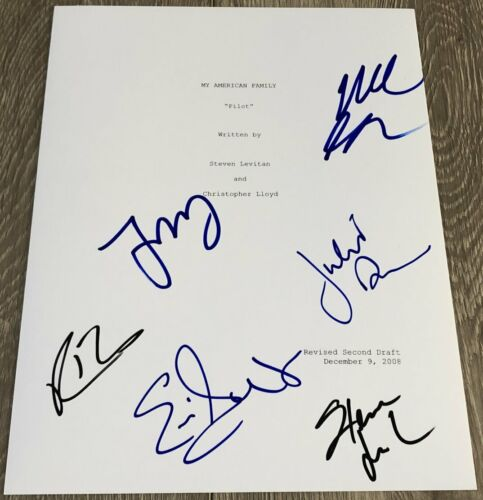 MODERN FAMILY CAST x6 SIGNED AUTOGRAPH 33 PAGE PILOT EPISODE SCRIPT wEXACT PROOF