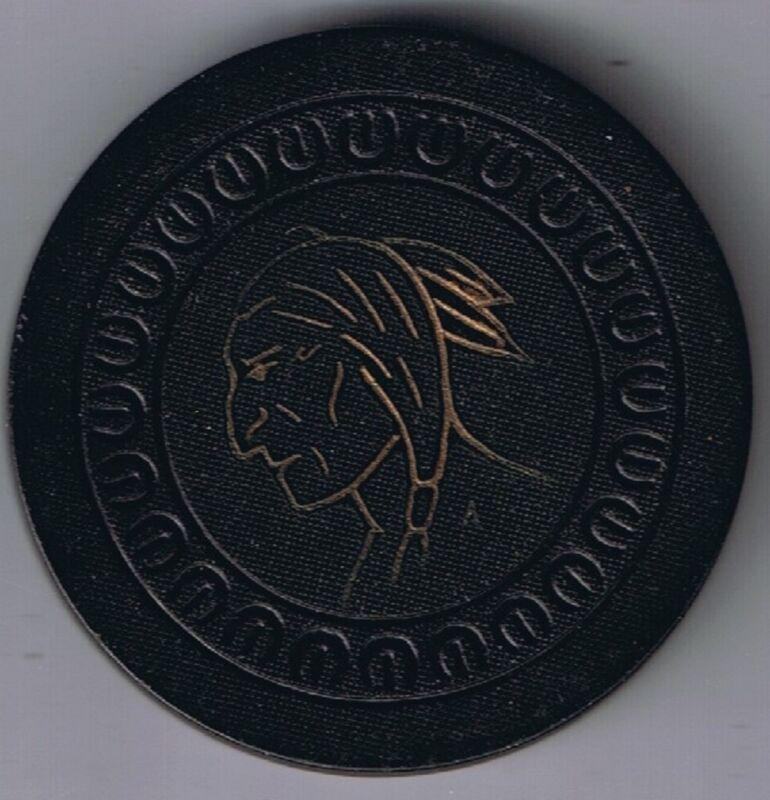 Spokane Club Indian Chief $10.00 Poker Chip  Harp Mold Spokane Washington