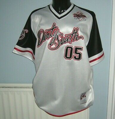 Men's Vintage Fubu baseball hip hop Jersey Dirty South 05 City Series White XL