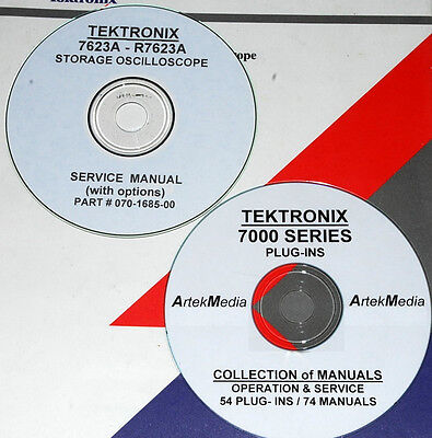 Tektronix 7623a R7623a 54 Plug-ins 75 Manual Set