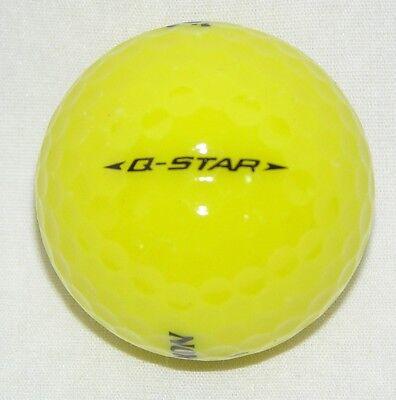 15 Srixon Q star Yellow golf balls grade AAAAA best recycled balls  LOT