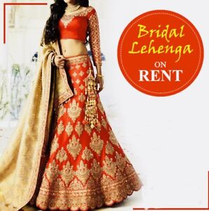 Heavy Bridal lehengas on rent