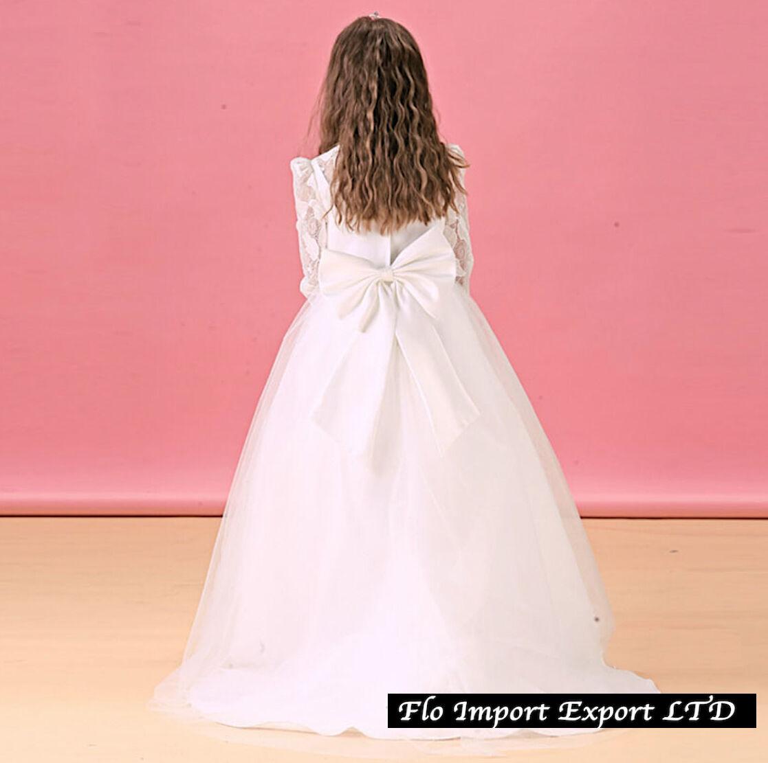 Vestido Dama Comunión Traje Niña niña Fiesta Dama de honor vestido ...