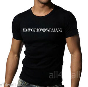 Black Emporio Armani tight fit muscle T-shirt sz M