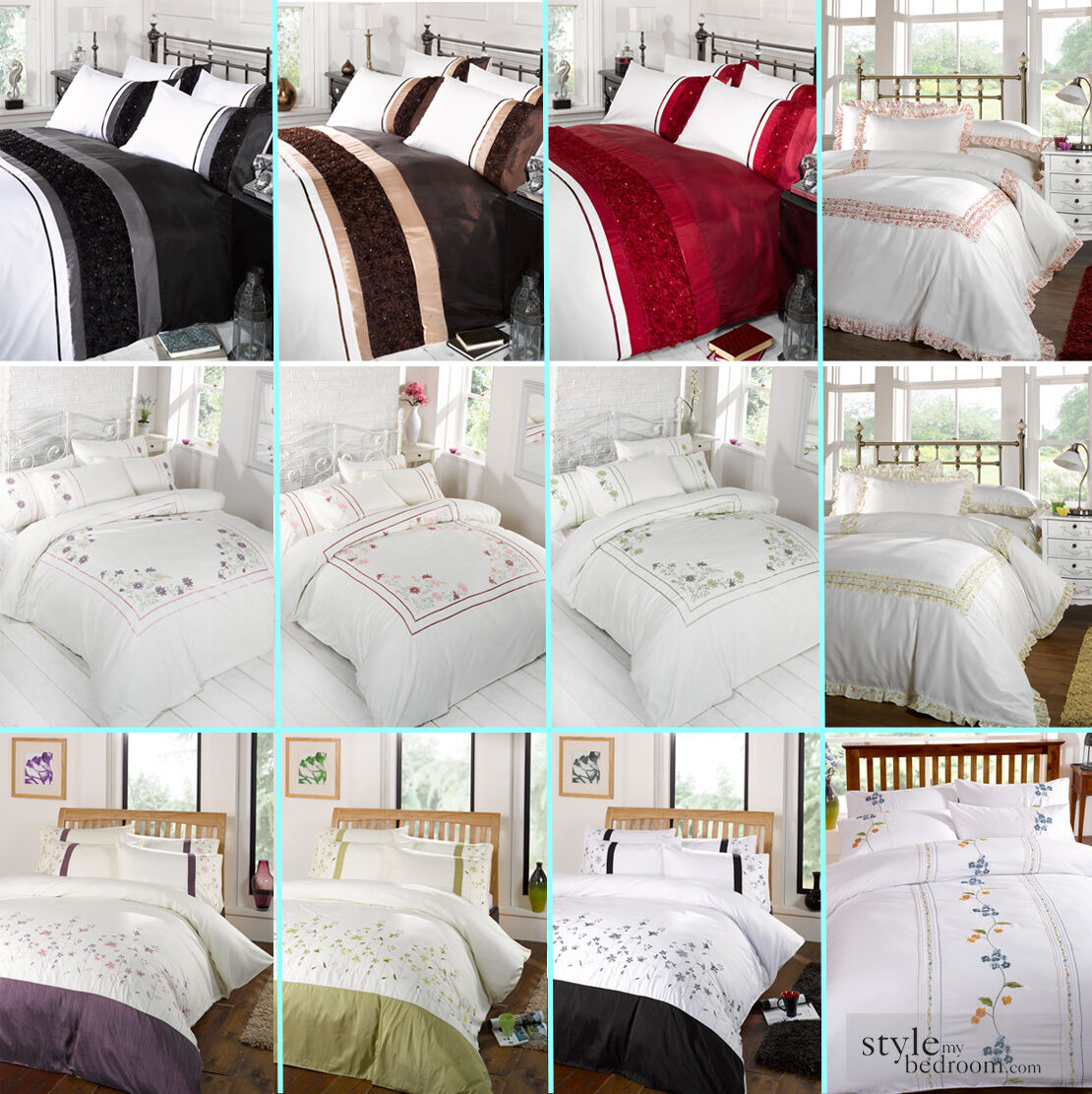 5 Piece Bed in a Bag Bedding Duvet Quilt Cover Set, Double \u0026 King ...