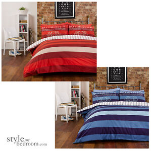 British vintage stripes reversible pin stripe bedding for Style my bedroom