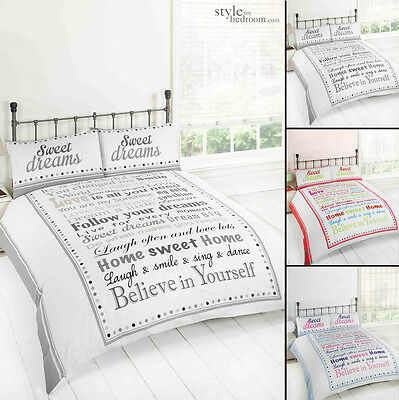 Sweet Dreams Modern Retro Chic Duvet Quilt Cover Bedding Set & Pillowcases - Retro-chic Quilt