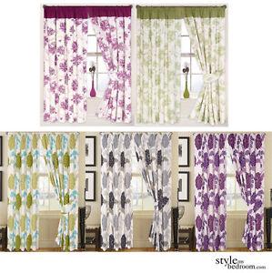 Rideaux doubl s motif grosses fleurs 6 couleurs 4 tailles for Style my bedroom
