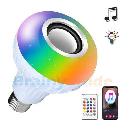 AGPtek Bluetooth Speaker Light Bulb E27 Smart LED RGB Color Changing + Remote