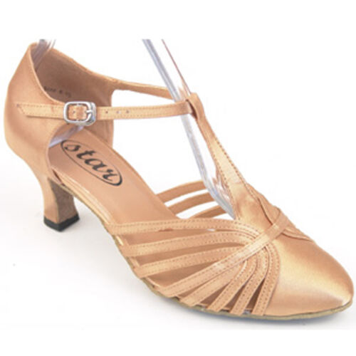 "682903 Flesh 2.2"" Heel Very Fine Quality Ballroom Dance Sandals Shoes (Sz 5 -10)"