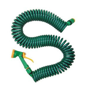 50 Ft Coil 15 Metre Retractable Garden Hose Pipe With