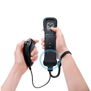 2-in-1-Motion-Plus-Built-in-Black-Nintendo-WII-Remote-Controller-and-Nunchuck