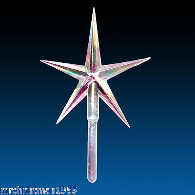LARGE Iridescent Clear Aurora Star + 2 angels for Ceramic Christmas Trees