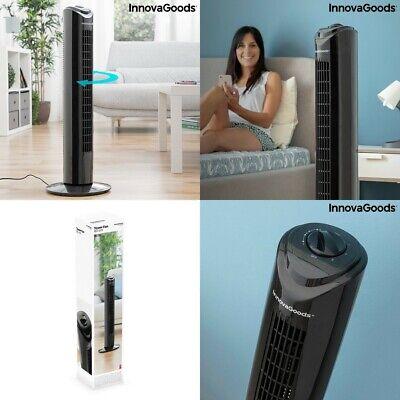 Ventilador diseño Torre 80 cm,50W,3 velocidad,oscilante,cable 150cm,bajo consumo