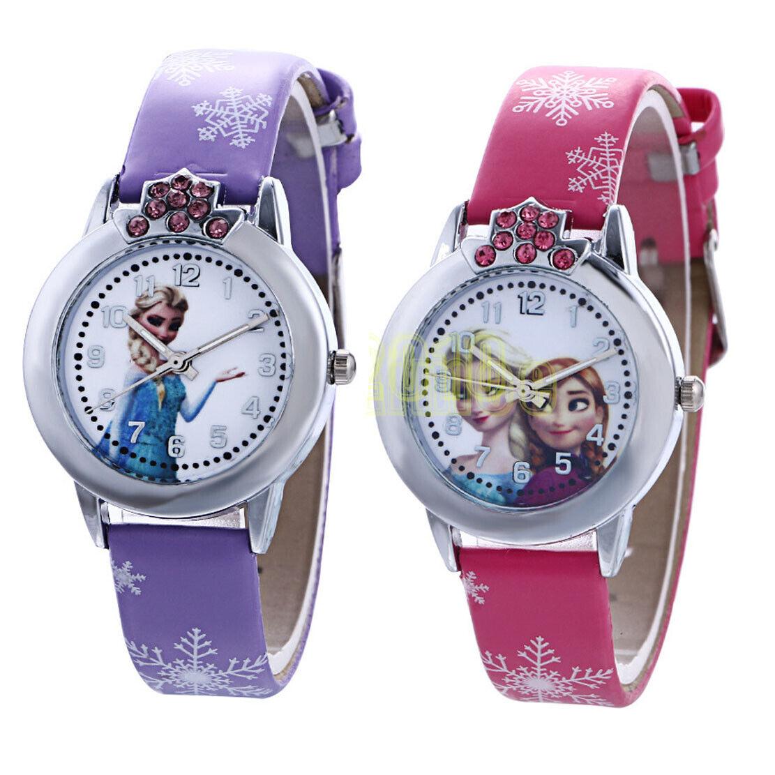Disney Frozen Elsa Anna Quartz Wrist Watch Perfect Gift for