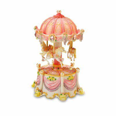 Carousel Dreams Mini 3-Horse Rotating Figurine The San Francisco Music Box