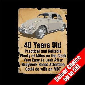 40 Year Old Vw Beetle Bug Funny 40th Birthday Gift T Shirt