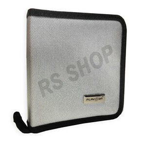 Metalic Silver Disc CD DVD Storage Wallet Holder Carry Case
