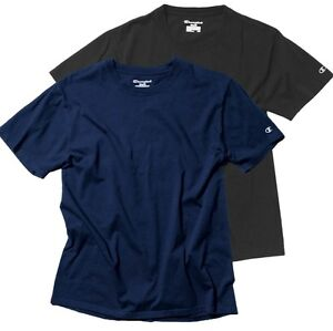 2 Pack Champion Mens Classic Tshirt Select Colours S M L XL XXL 3XL 4XL 5XL Blue