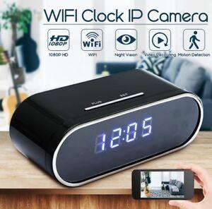Spy camera hidden alarm clock motion detection WiFi nanny cam Hallam Casey Area Preview