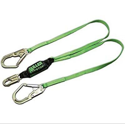 Miller 6 Large Hook Twin-leg Shock-absorbing Lanyard W Sofstop Shock Absorber