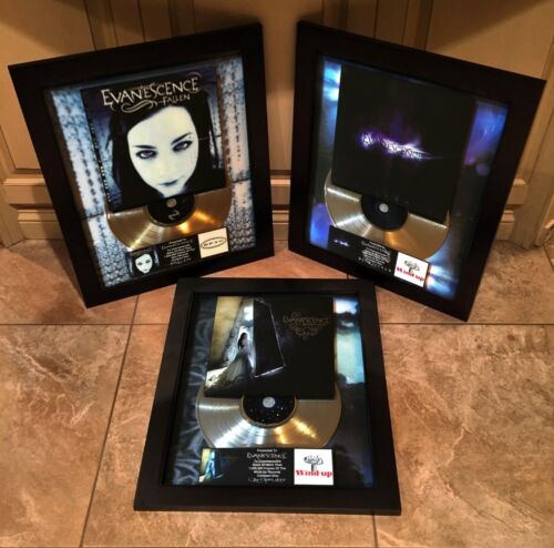 3 VERY RARE! Evanescence Million Record Sales Music Awards LP Vinyl Album Disc